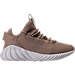 Right view of Boys' Grade School adidas Tubular Doom Sock Primeknit Casual Shoes in Sesame/Clear Brown