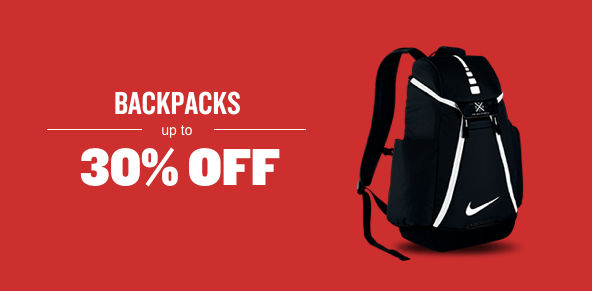 Backpacks Up To 30% Off