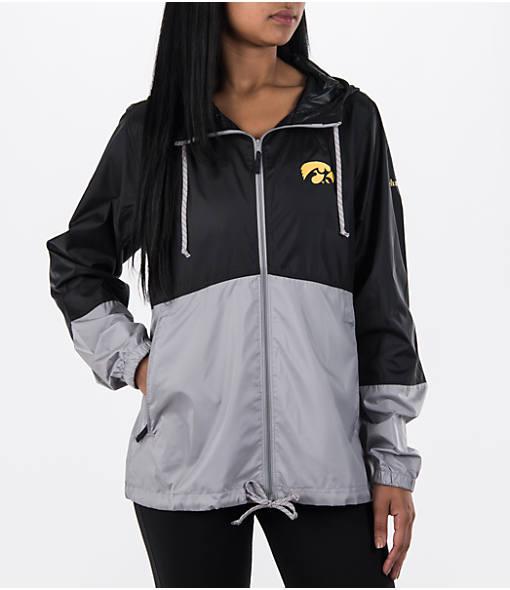 Women's Columbia Iowa Hawkeyes College Flash Forward Windbreaker Jacket