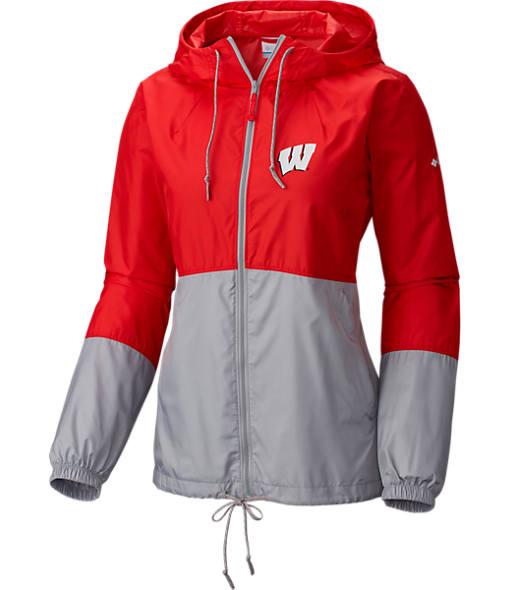 Women's Columbia Wisconsin Badgers College Flash Forward Windbreaker Jacket