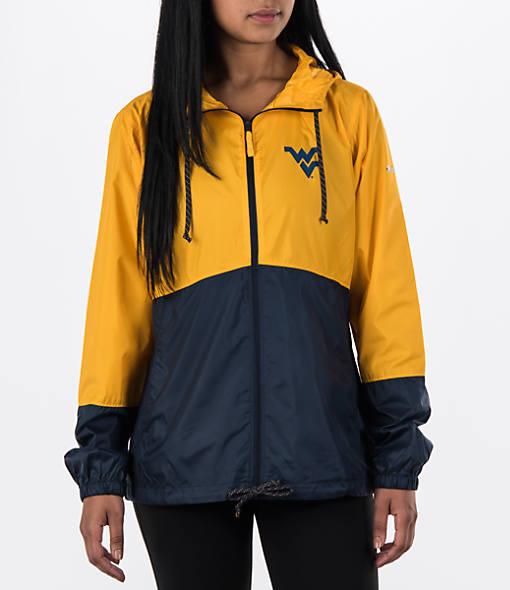 Women's Columbia West Virginia Mountaineers College Flash Forward Windbreaker Jacket