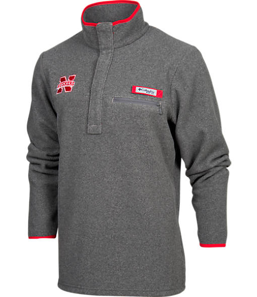 Men's Columbia Nebraska Cornhuskers College Harborside Pullover Fleece