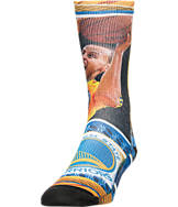 Men's For Bare Feet Golden State Warriors NBA Stephen Curry Hard Play Crew Socks