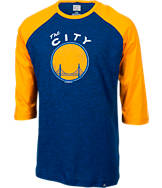 Men's Majestic Golden State Warriors NBA Judge Raglan Shirt
