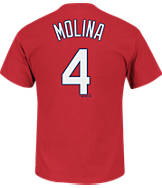 Men's Majestic St. Louis Cardinals MLB Yadier Molina Name and Number T-Shirt