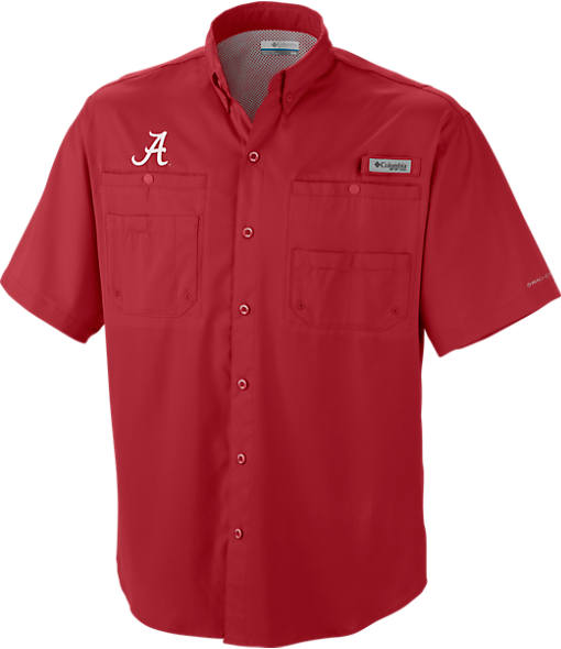 Men's Columbia Alabama Crimson Tide College Tamiami Short-Sleeve Shirt