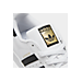 Front view of Women's adidas Superstar Casual Shoes in White/Black