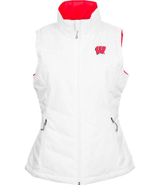 Women's Columbia Wisconsin Badgers College Powder Puff Vest