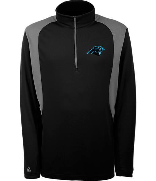 Men's Antigua Carolina Panthers NFL Delta Quarter Zip Shirt