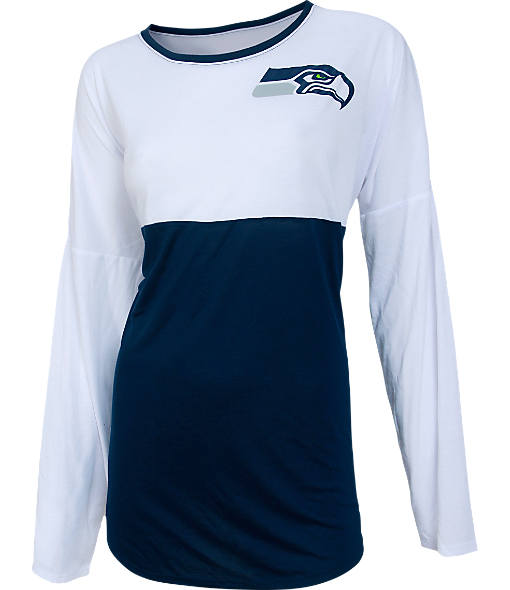 Women's College Seattle Seahawks Concepts NFL Long-Sleeve Vortex T-Shirt