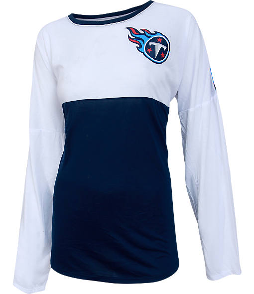 Women's College Concepts Tennessee Titans NFL Long-Sleeve Vortex T-Shirt