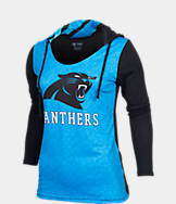 Women's College Concepts Carolina Panthers NFL Poly Hooded Shirt