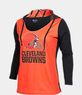 Women's College Concepts Cleveland Browns NFL Poly Hooded Shirt