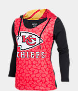 Women's College Concepts Kansas City Chiefs NFL Poly Hooded Shirt