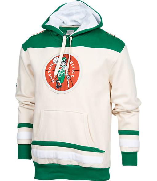 Men's Majestic Boston Celtics NBA Double-Double Pullover Hoodie