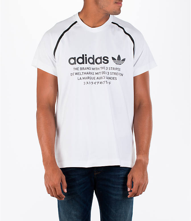 Front view of Men's adidas NMD T-Shirt in White