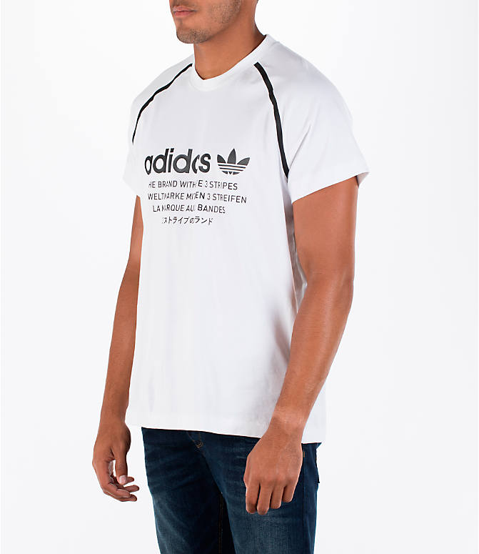 Front Three Quarter view of Men's adidas NMD T-Shirt in White