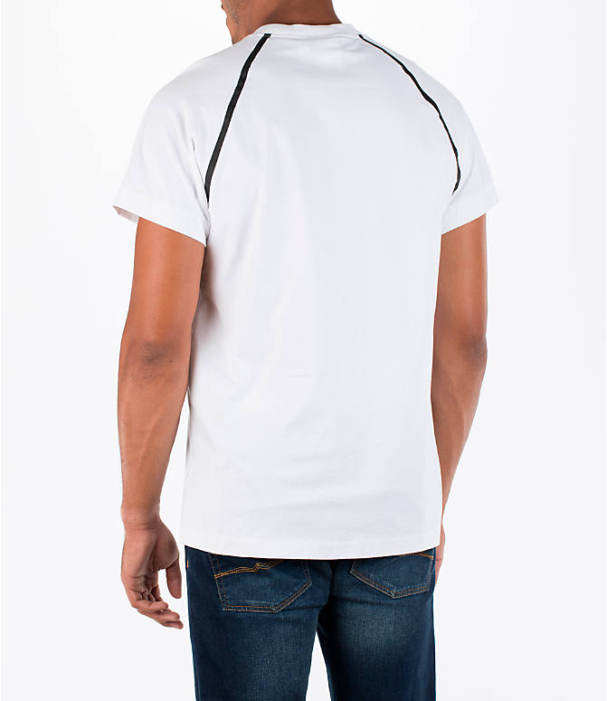 Back Left view of Men's adidas NMD T-Shirt in White