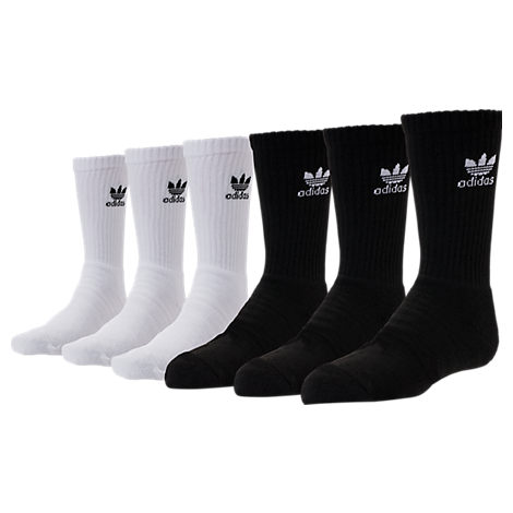 Kids' adidas Originals Crew Socks - 6 Pack