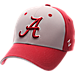 Front view of Zephyr Alabama Crimson Tide College Challenger Stretch Fit Hat in Team Colors/Heather