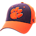 Front view of Zephyr Clemson Tigers College Challenger Stretch Fit Hat in Team Colors/Heather