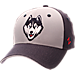 Front view of Zephyr UConn Huskies College Challenger Stretch Fit Hat in Team Colors/Heather
