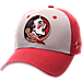 Front view of Zephyr Florida State Seminoles College Challenger Stretch Fit Hat in Team Colors/Heather