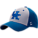 Front view of Zephyr Kentucky Wildcats College Challenger Stretch Fit Hat in Team Colors/Heather