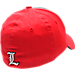 Back view of Zephyr Louisville Cardinals College Challenger Stretch Fit Hat in Team Colors/Heather