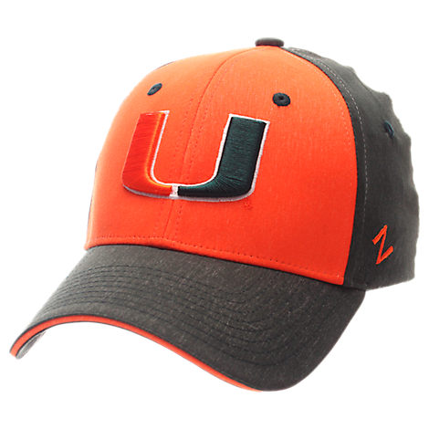 Zephyr Miami Hurricanes College Challenger Stretch Fit Hat