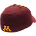 Back view of Zephyr Minnesota Vikings College Challenger Stretch Fit Hat in Team Colors/Heather