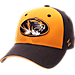 Front view of Zephyr Missouri Tigers College Challenger Stretch Fit Hat in Team Colors/Heather