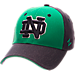 Front view of Zephyr Notre Dame Fighting Irish College Challenger Stretch Fit Hat in Team Colors/Heather