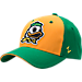 Front view of Zephyr Oregon Ducks College Challenger Stretch Fit Hat in Team Colors/Heather