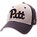 Front view of Zephyr Pitt Panthers College Challenger Stretch Fit Hat in Team Colors/Heather