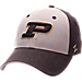 Front view of Zephyr Purdue Boilermakers College Challenger Stretch Fit Hat in Team Colors/Heather
