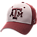 Front view of Zephyr Texas A&M Aggies College Challenger Stretch Fit Hat in Team Colors/Heather