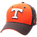 Front view of Zephyr Tennessee Volunteers College Challenger Stretch Fit Hat in Team Colors/Heather