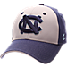 Front view of Zephyr North Carolina Tar Heels College Challenger Stretch Fit Hat in Team Colors/Heather