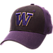 Front view of Zephyr Washington Huskies College Challenger Stretch Fit Hat in Team Colors/Heather