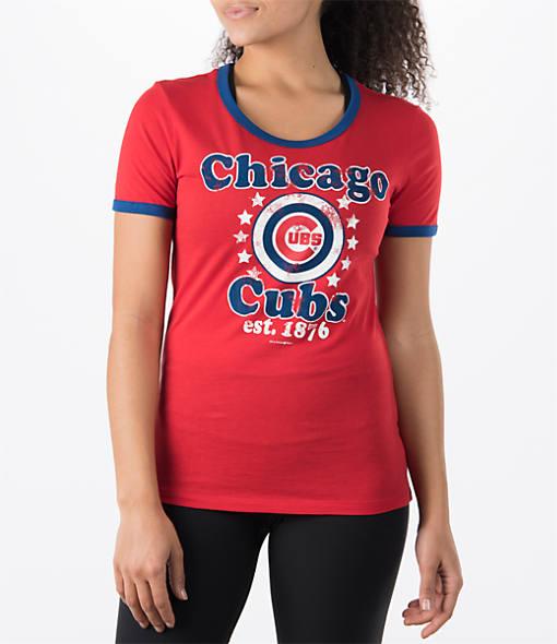 Women's New Era Chicago Cubs MLB Vintage Ringer T-Shirt