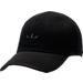 Front view of Men's adidas Originals Primeknit Strapback Hat in Black/Black