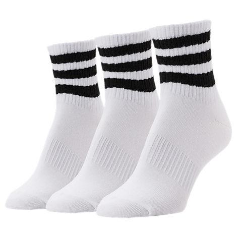 Women's adidas Originals 3-Stripe 3-Pack Quarter Socks