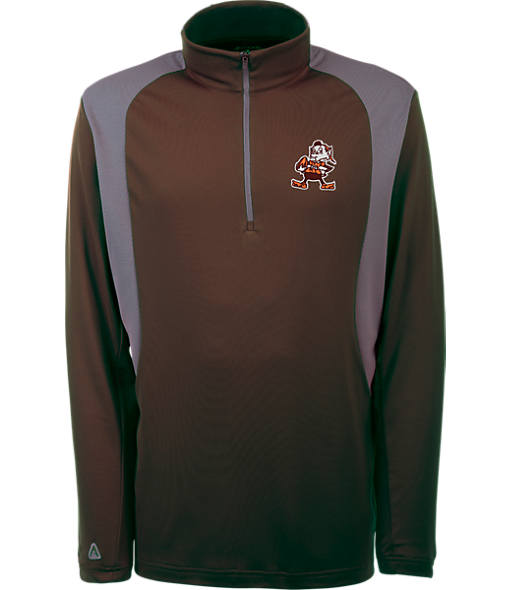 Men's Antigua Cleveland Browns NFL Delta Quarter Zip Shirt