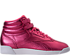 Women's Reebok Freestyle Hi Metallic Casual Shoes