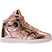 Right view of Girls' Preschool Reebok Street Stud Casual Shoes in Rose Gold/White