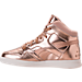 Left view of Girls' Preschool Reebok Street Stud Casual Shoes in Rose Gold/White