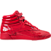 Right view of Women's Reebok Freestyle Hi Patent Casual Shoes in Primal Red