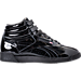 Right view of Women's Reebok Freestyle Hi Patent Casual Shoes in Black