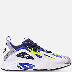Mens 리복 Reebok DMX 1200 Low Casual Shoes,White/Neon Lime/Navy